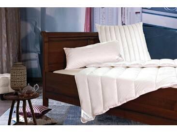 billerbeck Kunstfaserbettdecke, »Liliane«, normal, Bezug: 100% Baumwolle, (1-tlg), weiß
