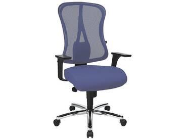 TOPSTAR Bürostuhl ohne Armlehnen mit verchromten Fußkreuz »Art Comfort Net«, blau, blau