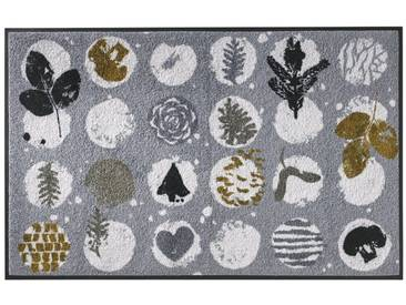 wash+dry by Kleen-Tex wash & dry Fußmatte Winter, waschbar, grau, grau/weiß