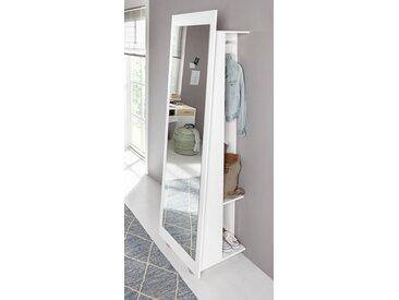 Standspiegel, weiß, (B/H/T): 60/195/52 cm, weiß, weiß