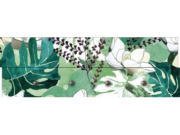Artland Wandgarderobe »Jule: Dschungelblätter«, grün, 30 x 90 x 2,8 cm, Grün