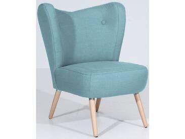 Max Winzer® Stuhlsessel »Stella«, im Scandinavian Design, blau, aqua