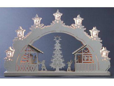 Weigla Schwibbogen »Weihnachtsmarkt«, 7-flammig, natur, natur