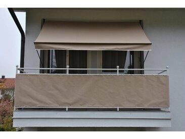 Angerer Freizeitmöbel ANGERER FREIZEITMÖBEL Balkonsichtschutz Meterware, taupe, H: 75 cm, grau, 75 cm, grau
