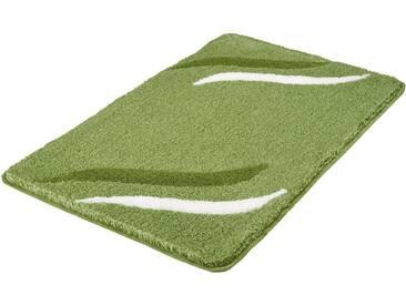 Kleine Wolke Badematte »Florenz« , Höhe 18 mm, rutschhemmend beschichtet, fußbodenheizungsgeeignet, grün, 18 mm, kiwigrün
