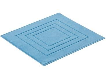 Vossen Badematte »Feeling« , Höhe 10 mm, fußbodenheizungsgeeignet, blau, 10 mm, blue