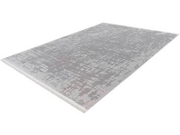 LALEE Läufer »Noblesse 904«, rechteckig, Höhe 12 mm, silberfarben, 12 mm, silberfarben