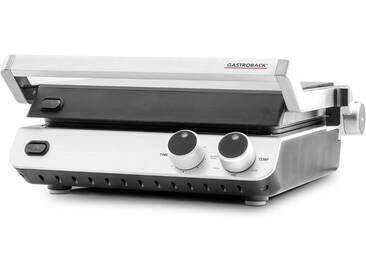 Gastroback Kontaktgrill Design BBQ ProDesign BBQ Pro, 2000 W, aus Edelstahl, edelstahlfarben