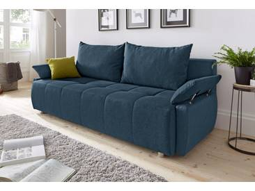 COLLECTION AB Schlafsofa, mit Federkern, inklusive Bettkasten, blau, 212 cm, blau