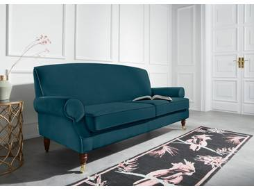 Guido Maria Kretschmer Home&Living 3-Sitzer »Rennes«, in Samtoptik oder Baumwoll-Mix, grün, 200 cm, petrol
