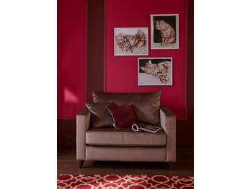 Guido Maria Kretschmer Home&Living GMK Home & Living Sessel Loveseat »Renesse«, lose Kissen, Keder an Sitzkissen, braun, taupe