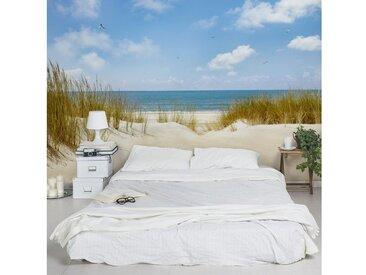 Bilderwelten Vliestapete Breit »Strand an der Nordsee«, blau, 190x288 cm, Blau
