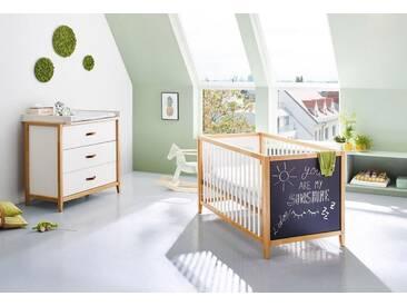 Pinolino® Pinolino Babyzimmer-Set (2-tlg.), Sparset, »Calimero breit mit Tafellack«, weiß, weiß/Tafel