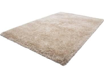 LALEE Hochflor-Teppich »Monaco«, rechteckig, Höhe 45 mm, natur, 45 mm, sand