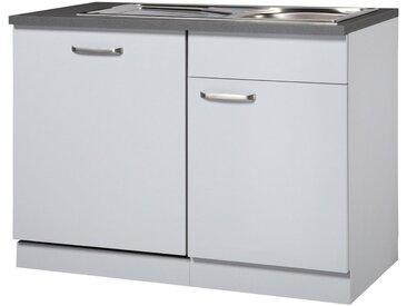 wiho Küchen WIHO KÜCHEN Spülenschrank »Michigan«, Breite 110 cm, für Kombination mit Geschirrspüler, grau, grau
