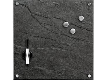 Zeller Present Zeller Memobord »Schiefer«, Glas, schwarz, Maße(B/T/H):(40/1,6/40), schwarz