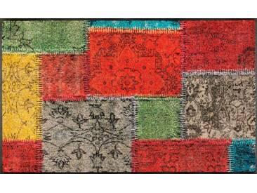wash+dry by Kleen-Tex Läufer »Vintage Patches«, rechteckig, Höhe 7 mm, bunt, 7 mm, bunt
