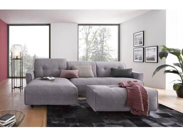 Hülsta Sofa hülsta sofa Polsterecke »hs.400« mit Rückenverstellung, grau, Recamiere links, lichtgrau