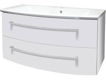 FACKELMANN Waschtischunterbau »Rondo«, Breite 99 cm, weiß, weiß