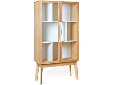 Woodman Vitrine »Hilla«, Breite 88 cm, natur, ohne Aufbauservice, natur/weiss