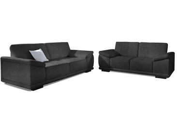 sit&more Spar-Set: 3-Sitzer und 2,5-Sitzer, schwarz, schwarz
