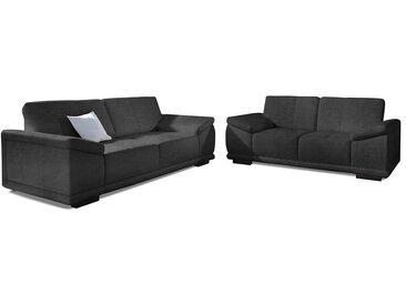 sit&more Polstergarnitur, schwarz, schwarz