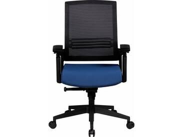 Amstyle Chefsessel »Apollo A2« mit Sitztiefenverstellung, schwarz, blau/schwarz