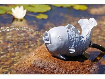 OASE Wasserspiel , Wasserspeier Fisch, grau, grau