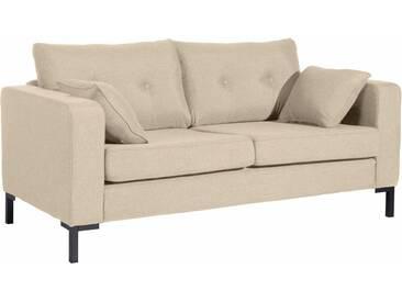 Max Winzer® 2-Sitzer Sofa »Timber« mit dekorativen Knöpfen, inklusive Zierkissen, natur, beige