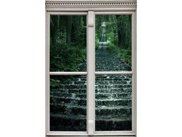 queence Wandsticker »Treppe im Wald«
