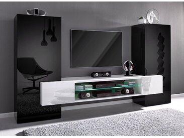 Tecnos Mediawand, schwarz, schwarz-weiß