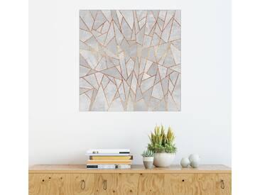Posterlounge Wandbild - Elisabeth Fredriksson »Shattered Concrete«, bunt, Forex, 120 x 120 cm, bunt