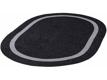 THEKO Teppich »Benito«, oval, Höhe 6 mm, In- und Outdoor geeignet, grau, 6 mm, anthrazit