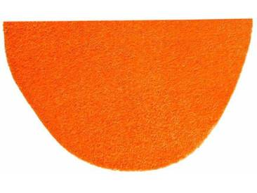 HANSE Home Fußmatte »Deko Soft«, U-förmig, Höhe 7 mm, saugfähig, waschbar, orange, 7 mm, orange