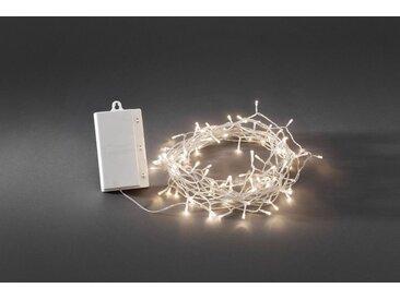 KONSTSMIDE LED Lichterkette mit Multifunktion, weiß, Lichtquelle warm-weiß, Transparent