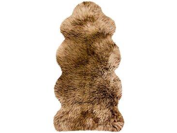 Heitmann Felle Fellteppich »Lammfell KE 152«, fellförmig, Höhe 70 mm, echtes Austral. Lammfell, Farbe braun mit hellbraunen Spitzen