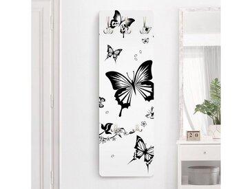 Bilderwelten Kindergarderobe 139x46x2cm »Blumen und Schmetterlinge«, bunt, 139x46 cm, Farbig