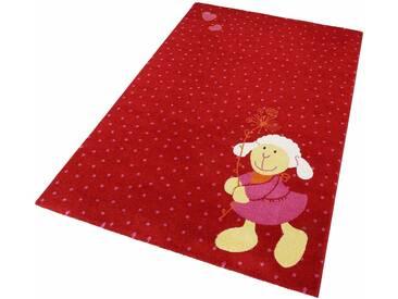 Sigikid Kinderteppich »Schnuggi«, rechteckig, Höhe 13 mm, rot, 13 mm, rot