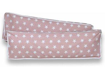 Ticaa Rückenkissen-Set, 2-teilig, 98x40 cm, Stern Rosa