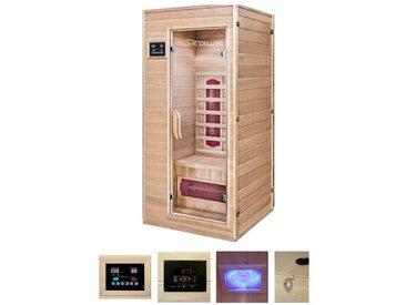 HOME DELUXE Infrarotkabine »Redsun S«, BxTxH: 90x90x190 cm, geeignet für 1 Person, natur, natur