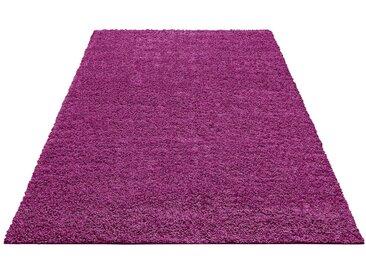 Home affaire Hochflor-Teppich »Shaggy 30«, rechteckig, Höhe 30 mm, lila, 30 mm, lila