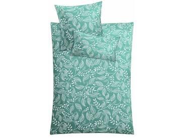Kleine Wolke Bettwäsche »Cillo«, mit Blätterranken, grün, 1x 135x200 cm, Mako-Satin, grün
