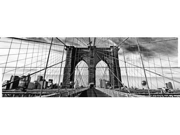 Artland Wandgarderobe »Peter Knif: Brooklyn Bridge - schwarz/weiss«, weiß, 30 x 90 x 2,8 cm, Weiß