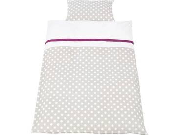 Pinolino® Babybettwäsche »Punkte«, mit niedlichen bunten Punkten, grau, 1x 100x135 cm, Perkal, grau