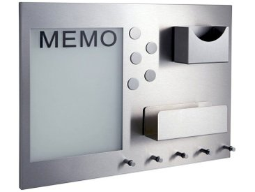 heine home Memoboard aus Metall, ca. 35/48/7 cm, ca. 35/48/7 cm, edelstahl