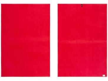 Vossen Handtücher »New Generation«, große Farbauswahl, rot, Walkfrottee, hellrot