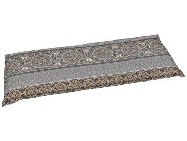 GO-DE Bankauflage (L/B): ca. 115x45 cm, grau, 1 Auflage, grau/beige
