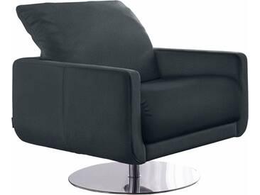 W.SCHILLIG Armlehnen-Sessel »mademoiselle« mit Kopfstützenverstellung und Drehteller, grau, anthracite