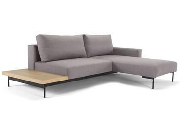 INNOVATION™ Schlafsofa im Scandinavian Design mit Ottomane und Holz Tisch »Bragi«