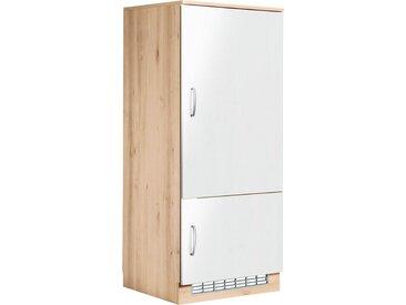 wiho Küchen Wiho Küchen Kühlumbauschrank »Brilon«, inkl. **** Einbaukühlschrank, weiß, weiß Glanz